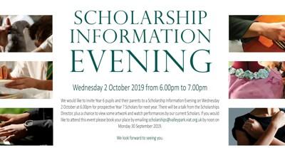 Valley Park School Scholarship Information Evening