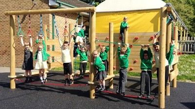 Our new KS1 playground equipment is open!