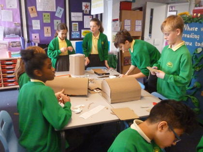 Year 6 T4 Fleming - DT Anderson Shelter Creations
