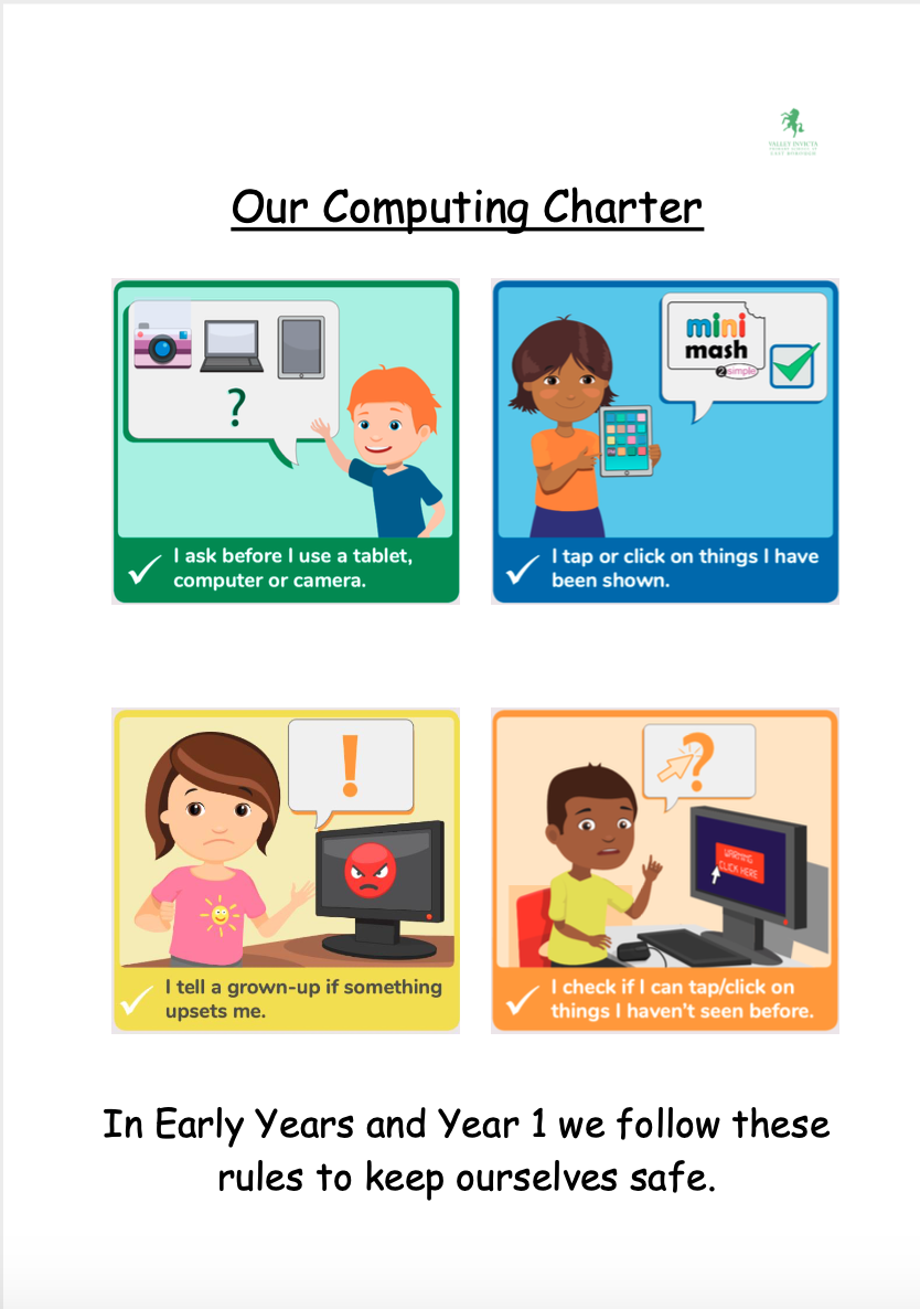 Online Safety Poster EYFS and Year 1